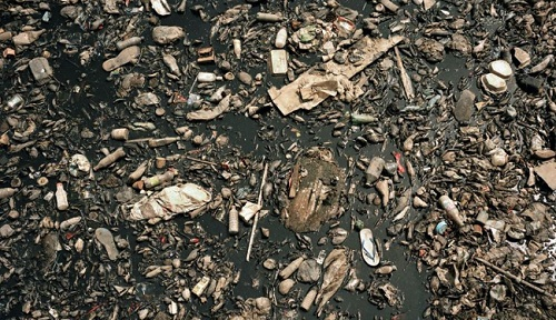 The Odaw River in Accra, Ghana is one of the most polluted in the world. Much of the waste comes from the Agbogbloshie e-waste landfill. Photo Credit: Bit Rot Project